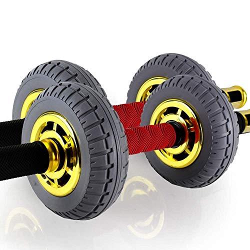 YDHWT Dual Wheel Ab Exerciser - Abdominal-Rollout-Ausrüstung mit Anti-Rutsch-Griffen und Doppelrollen-Laufrad - Dieses Laufrad ist mit einem Kniepolster und Doppelrollen ausgestattet und sorgt for zus