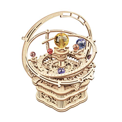ROKR 3D Wooden Puzzles Model Kit Mechanical Music Box Starry Night