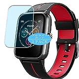 Vaxson Protector de pantalla anti luz azul, compatible con reloj inteligente FKANT ID205G, protector de película de bloqueo de luz azul [no vidrio templado]