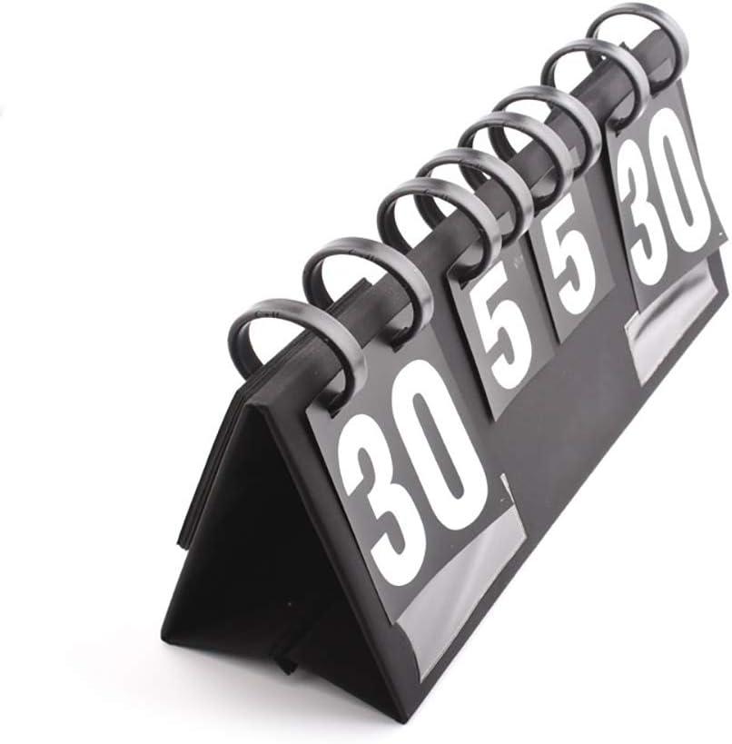 N\A Flip Scoreboard Score Keeper, Portable Multifunction Score Flipper 00 a 99 para Juegos De Competición De Baloncesto, Fútbol, Tenis, Voleibol, Ping-Pong, Bádminton