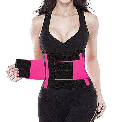 ANKIKI Bauchweggürtel für Fitnesstraining Bauchgürtel, Taille Trimmer Gürtel, Korsett, Abnehmen Body Shaper, Körperunterstützung, Beschleunigter Schweiß Fitness,XL
