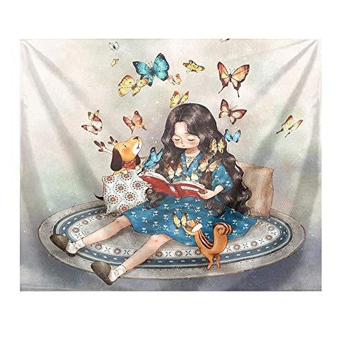 YANGYUAN Carácter colgar de la pared de la tapicería, arte cortina de puerta, fondo de la pared pintura decorativa, del hogar del arte Decoraciones, for dormitorio dormitorio sala de estar (Tamaño: 15