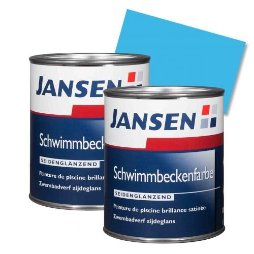 2 x Jansen Schwimmbeckenfarbe manganblau 2,5l