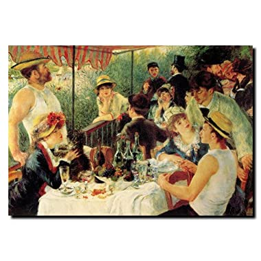 Luncheon of the Boating Party by Pierre Renoir, 24x32-Inch Canvas Wall Art