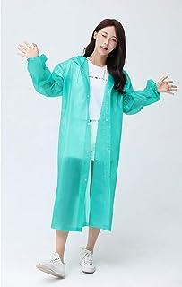 Mega Shop レインコート 透明 厚手 防水 レインコート ポンチョ レディース キャンプ レインウェア スーツ