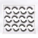 12 Pairs False Lashes Soft Natural 3D Faux Mink Eyelashes Glamour Look Lashes Pack Lanflower