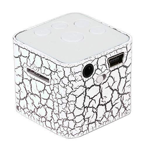 Gutyan Tragbare Mini-Lautsprecher, Bunte Crack LED-Licht Kleine Lautsprecher Resonanzkörper Cube-Unterstützung Micro SD/TF-Karte
