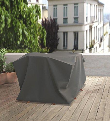 d-c-fix 2460110 70 x 120 x 120 cm Jardin Premium Housse de Protection pour Bistro Gris Taille M