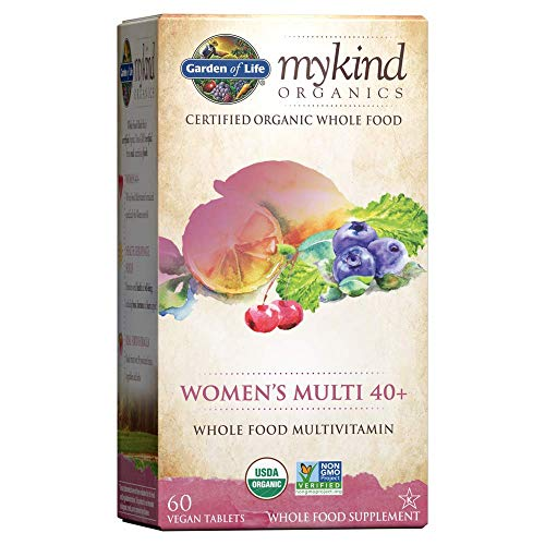 Garden of Life Multivitamin for Women - mykind Organic Women's 40+ Whole Food Vitamin Supplement, Vegan, 60 Tablets *Packaging May Vary*