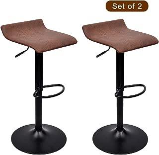 WAYTRIM Adjustable Bar Stools (Set of 2) Modern Swivel Barstools Chairs
