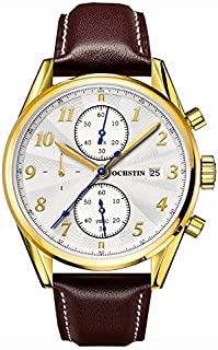 Watch for Men by OCHSTIN, Chronograph, Analog, Leather, Brown, GQ038-BR