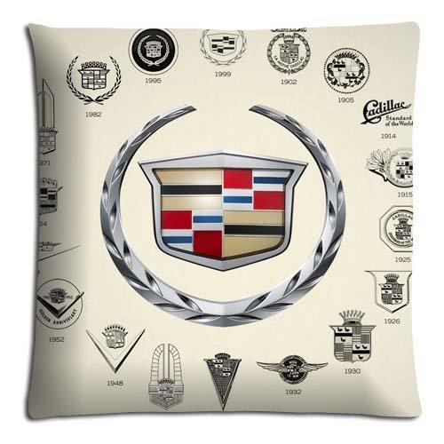 Para joyería 16Pulgadas 40m funda de almohada cojín algodón poliéster para resistentes a las manchas Cadillac Car Logo Super