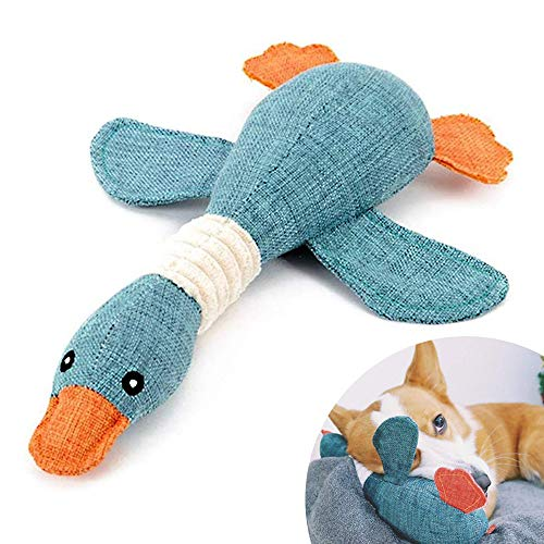 Pet Mallard Duck Dog Toy for Aggressive Chewers Dog, Wild Goose Puzzle Training Toys, Squeaky Dog Toy, Cute Soft Pet Toy for Small Medium Dogs