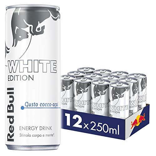 Red Bull Energy Drink, Gusto Cocco Açaí, 250 ml (12 Lattine)