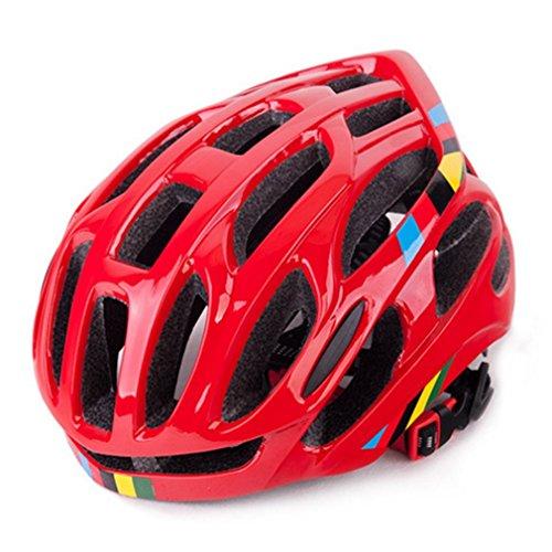 Bellaluee Casco de Bicicleta de Ciclismo con ventilación Suave, Casco de Bicicleta Transpirable, Casco de montaña de Carretera Totalmente Moldeado
