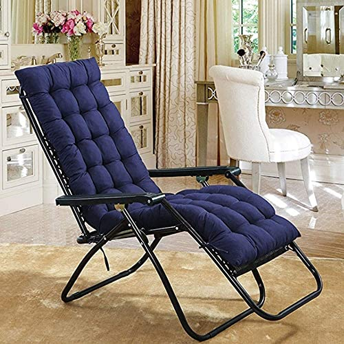 WEIZI Large chair cushion soft non-slip jumbo rocking chair cushion Seat cushion Overcrowded rocking chair set 18.9'x 47.2' x 1.97'(dark blue)