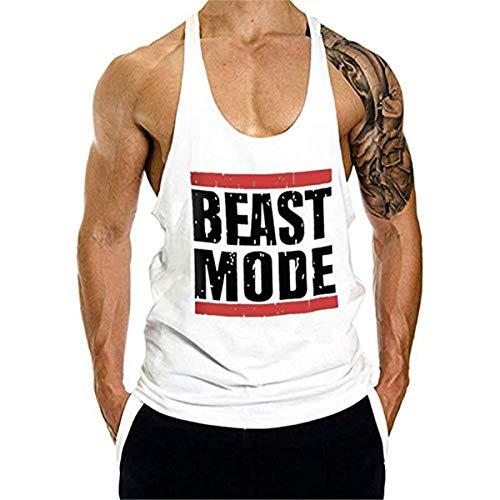 Cabeen Beast Mode Herren Bodybuilding Muskelshirt Tank Top Workout Achselshirts Stringer