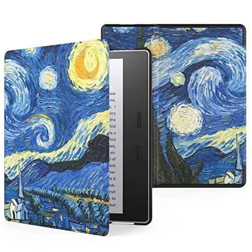 Capa para Kindle Oasis 2019-2020 (aparelho com temperatura de luz ajustável) - Noite Estrelada (van Gogh)