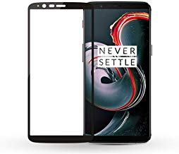 Aeidess Tempered Glass for OnePlus 5T Edge to Edge Full Screen Coverage (Black) 1 Pack (Oneplus 5T)