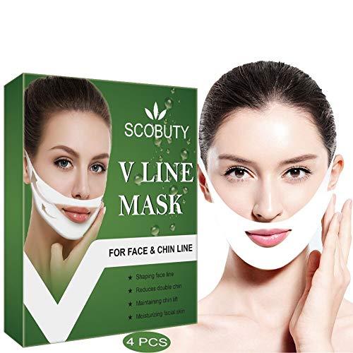V Gesichtsmasken V Sculpt Maske V Förmige Slimming Maske Miracle V-Shaped Slimming Mask Gesicht V-Linie Face Chin up Lift für Anti Falten Kinnlifting Gesichtsformung Straffung Feuchtigkeitsspendende