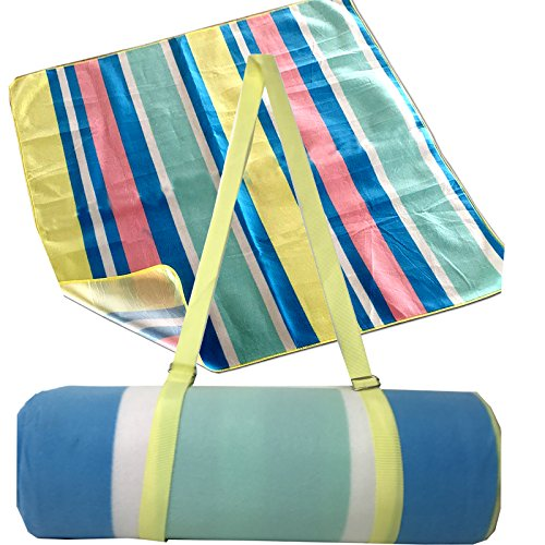 JEMIDI Picknickdecke Outdoor XXL 180cm x 180cm Wasserdicht Schwimmbaddecke Campingdecke Decke Picknick