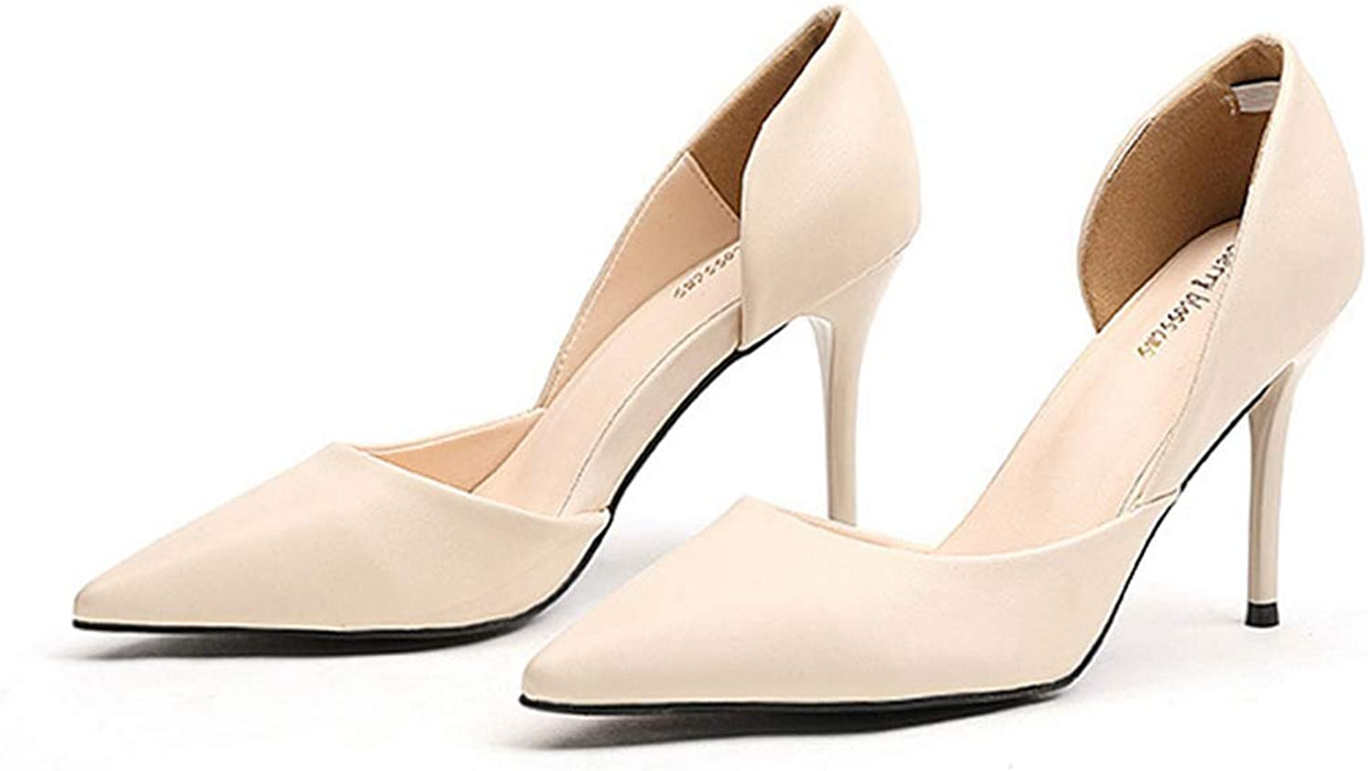 Drew Toby Women Pumps Simple Side Hollow Pointed Toe Shallow Wedding High Heels