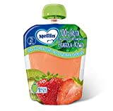 Mellin, Pouch Merenda 100% Fragola e Kiwi con Carota e Vitamina C - 6 Confezioni da 90 gr...