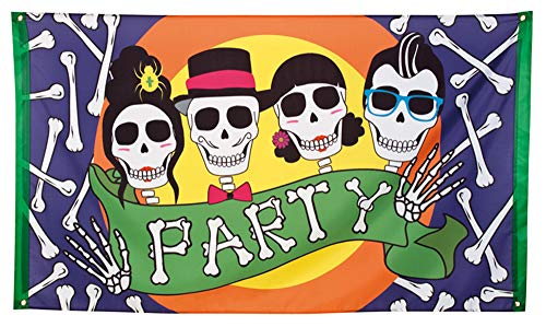 Boland Day of The Dead Halloween Flagge Skull Party 150 x 90 cm