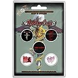 Photo de Motley Crue Button Pack De Badges Dr Feelgood Band Logo Nouveau Officiel 5 X Pin