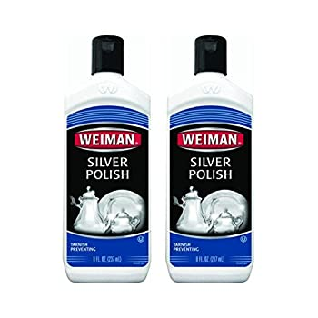 Weiman Silver Polish 8 ounce Bottles pack of 2