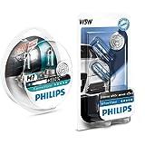 Philips 12972XV+S2 - Bombillas para coches (55W, H7, Halógeno) + Philips 12961NBVB2 bombilla para coche - bombilla para coches, 12V, 5W, Halógeno, 2 unidades