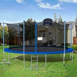 Globalucky 16FT Trampoline with Safety Enclosure Net, Fitness...