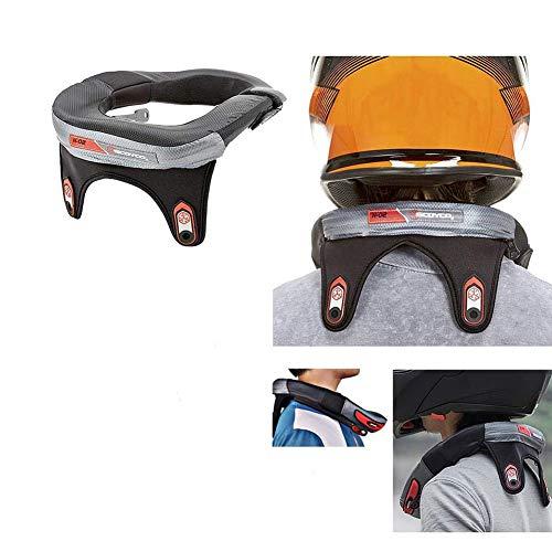 XZPZ Nackenschutz Motocross Neck Brace Unterstützung Reitkörperschutz Gears Radfahren Anti-Müdigkeit-Schutz-Schutz für Erwachsene Motorrad-Absturzschutz