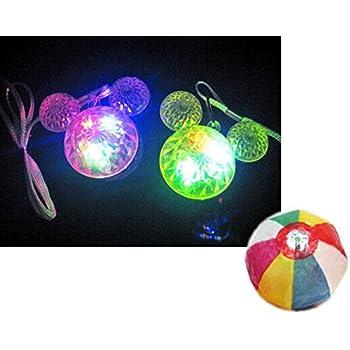 【光る玩具】〕ダイヤマウスペンダント(36個入)  / お楽しみグッズ(紙風船)付きセット