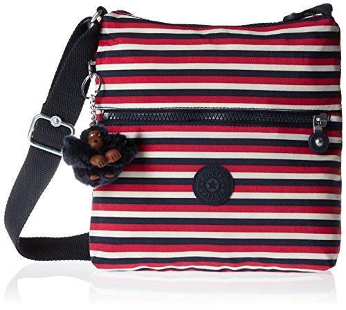 Kipling Zamor, Damen Umhängetasche, Multicolour (Sugar Stripes), 25.5x24.5x4 cm (W x H x L)