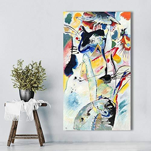wZUN Mural Abstracto del Arte de la Lona para la decoración del hogar de la Pintura al óleo de la Sala de Estar 60x120 Sin Marco