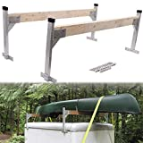"The Adjustable Ladder Rack are designed to mount to the rain gutters of almost any enclosed or open trailer, can be used on flat or round roofs. Put 2"" x 4"" lumber (not included) into the brackets to act as crossbars for a customized ladder rack of a..."