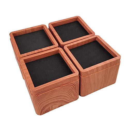 Aspeike The New Upgrade - Elevadores apilables para cama y muebles de 3 pulgadas, para cama ajustable y elevadores de muebles para sofás, escritorios, dormitorios, mesas y sillas, paquete de 4