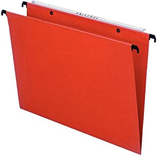 Esselte 10202 Orgarex Kori Lot de 25 Dossier Suspendu Vertical Fond V A4 Onglets Inclus, Orange, 34.5 x 24.5 cm