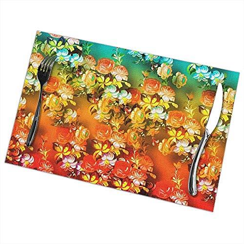 Hittebestendige placemats set van 6 eettafel plaats matten boer Placemat anti-slip wasbaar