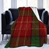 LUCKCHN Familien-Schottenkaro, ultraweiche Micro-Fleece-Decke für Sofa, leichte Mikrofaser, Bettwäsche, 152,4 x 127 cm