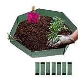 woyada Plantas de jardín para cultivo de lecho de cultivo de bordes de autoensamblaje, soporte de paisaje, placas de inserción de tabla de terraza para jardín al aire libre, patio, 15 x 50 cm