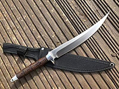 Perkin FB902A Hunting Knife with Sheath Fixed Blade Knife