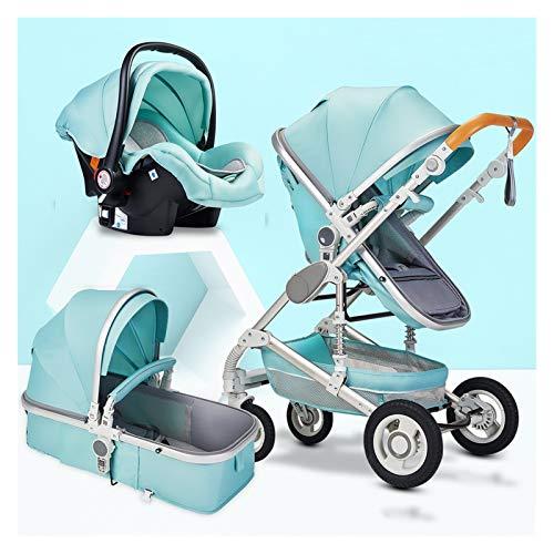 YXCKG Cochecito de la Silla de sillas 3 en 1, Cochecito de recién Nacido liviano, 0-36 Meses Carretilla de bebé, Jersey de bebé Alta Paisaje, Cochecito de bebé Ligero, carruaje Compacto Plegable