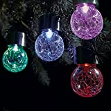 Solalite® Set of 6 Solar Hanging Crackle Ball...