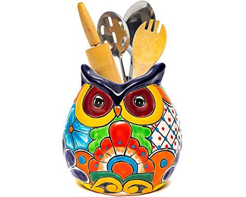 Hand Painted Owl Crock