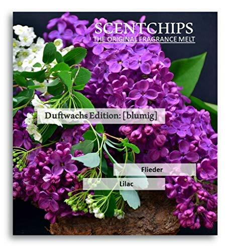 Feste Feiern Duftwachs Scentchips I 12x Aroma Flieder (Lilac) Raumduft Melts Soja Wachs Wax Duft Tards für Aromalampe Duftlampe Diffuser