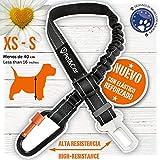 PET & CAR Cinturón de Seguridad Extensible para arnés de Perro. Previene...