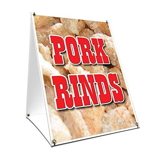A-Frame Sidewalk Pork Rinds Sign with Graphics On Each Side | 18