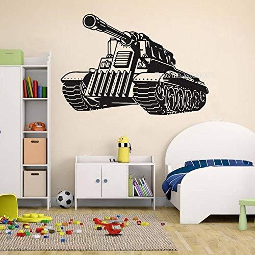HNXDP Panzer Militär Wandaufkleber Kriegsthema Armee Vinyl Wohnkultur Jungen Zimmer Spiel Wandtattoos Wandbilder Innen Tapete 82cmX56cm